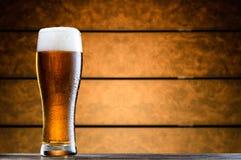 Vidrio de cerveza fría Fotografía de archivo