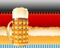 Vidrio de cerveza Lager Foam Oktoberfest Holiday Flag Alemania Backgroun Imagen de archivo libre de regalías