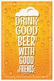Vidrio de cerveza Logo Design Concept Slogan Background Imagen de archivo libre de regalías