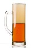 Vidrio de cerveza semilleno Imágenes de archivo libres de regalías