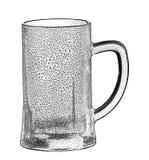 Vidrio de cerveza vacío Fotografía de archivo libre de regalías