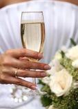 Vidrio de champán Foto de archivo libre de regalías