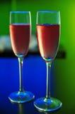 Vidrio de champán Fotografía de archivo libre de regalías