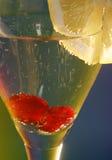 Vidrio de champán Foto de archivo