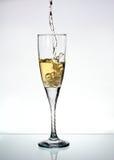 Vidrio de champange Imagen de archivo libre de regalías