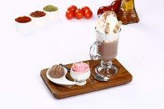 Vidrio de chocolate caliente Imagen de archivo