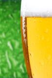 Vidrio de cierre de la cerveza para arriba imágenes de archivo libres de regalías