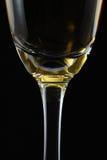 Vidrio de cierre del champán para arriba Imagenes de archivo