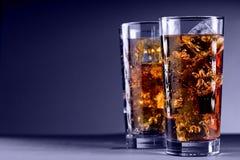 Vidrio de cola con hielo Imagen de archivo libre de regalías