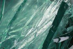 Vidrio de desecho verde fotografía de archivo
