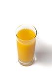 vidrio de fondo aislado del zumo de naranja Imagen de archivo libre de regalías