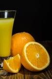 Vidrio de jugo, anaranjado Fotografía de archivo
