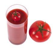 Vidrio de jugo de tomate foto de archivo