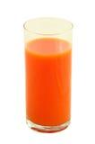 Vidrio de jugo de zanahoria Fotografía de archivo libre de regalías
