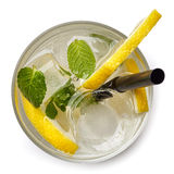 Vidrio de la bebida de la soda del limón Imagen de archivo