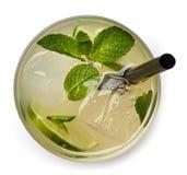 Vidrio de la bebida de la soda del limón Fotografía de archivo libre de regalías
