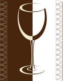 Vidrio de la bebida del alcohol del fondo de la tarjeta del vino Libre Illustration