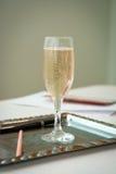 Vidrio de la boda de champán Imagen de archivo libre de regalías
