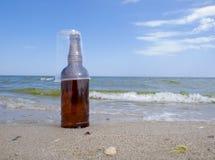 Vidrio de la botella y del plástico Imagen de archivo libre de regalías