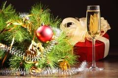 Vidrio de champán Fotos de archivo libres de regalías