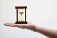 Vidrio de la hora imagen de archivo libre de regalías