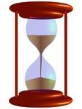 vidrio de la hora 3d Fotos de archivo