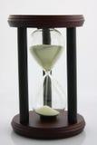 Vidrio de la hora en blanco foto de archivo libre de regalías