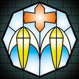 Vidrio de la iglesia Foto de archivo libre de regalías