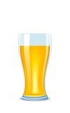 Vidrio de la ilustración de cerveza Fotografía de archivo