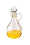 Vidrio de la jarra con aceite Fotografía de archivo libre de regalías