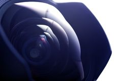 Vidrio de la lente granangular Fotos de archivo libres de regalías