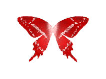 Vidrio de la mancha del color rojo de la mariposa de las alas en el aislante blanco Ilustración del Vector