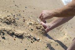 Vidrio de la playa en Bermudas fotografía de archivo