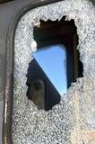 Vidrio de la ventana roto foto de archivo libre de regalías