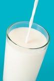 Vidrio de leche Foto de archivo libre de regalías