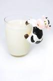 Vidrio de leche Fotografía de archivo
