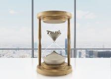 Vidrio de madera de la hora Fotografía de archivo libre de regalías