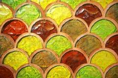 Vidrio de mosaico del color de la textura Imágenes de archivo libres de regalías