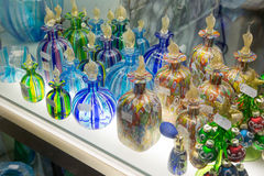 Vidrio de Murano en venta en Venecia, Italia Imágenes de archivo libres de regalías
