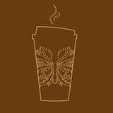 Vidrio de papel del café del vector Fotos de archivo libres de regalías