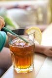 Vidrio de té de hielo Imagen de archivo libre de regalías