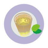Vidrio de té verde Foto de archivo libre de regalías