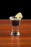 Vidrio de tequila, de sal y de cal Imagen de archivo