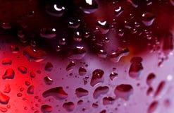 Vidrio de vino ascendente cercano de la macro y vino rosado rojo o fotografía de archivo libre de regalías