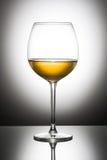 Vidrio de vino blanco Imagen de archivo libre de regalías