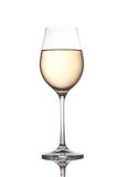 Vidrio de vino blanco Fotografía de archivo libre de regalías