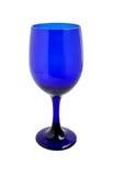 Vidrio de vino del azul de cobalto imagen de archivo