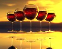 Vidrio de vino en 3D Foto de archivo