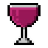 Vidrio de vino en pixeles grandes Foto de archivo libre de regalías