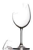 Vidrio de vino quebrado imágenes de archivo libres de regalías